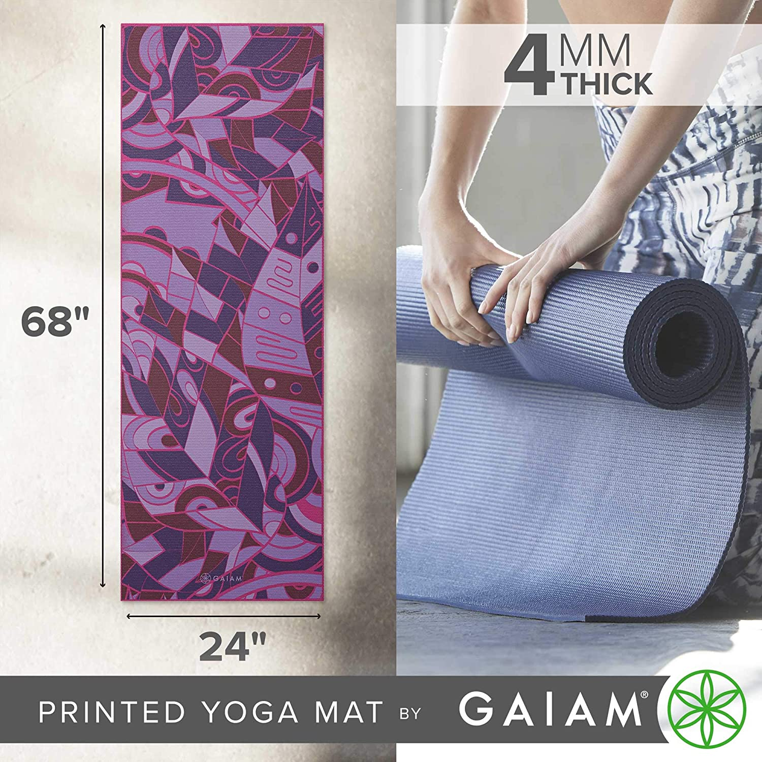 Amazon.com: Gaiam - Esterilla de yoga clásica de 0.157 in ...