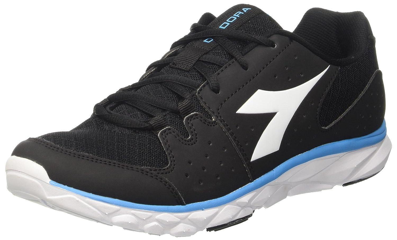 Diadora Hawk 7, Zapatos para Correr para Hombre 40.5 EU|Negro (Nero/Bianco/Blu Fluo)