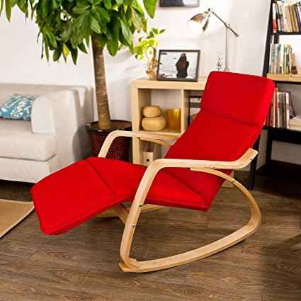 SoBuy Haotian Comfortable Relax Rocking Chair with Foot Rest Design Lounge Chair Recliners Poly : relax r chair - Cheerinfomania.Com