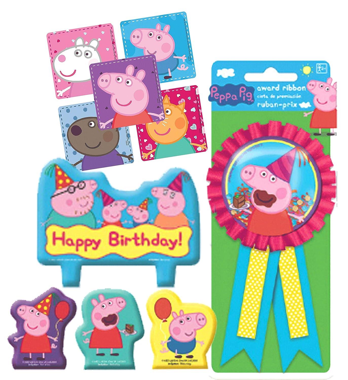 Peppa Pig - Juego de Velas para Tarta de cumpleaños y Cinta ...