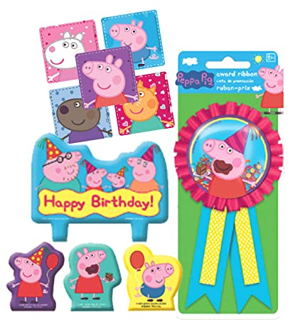 Amazon.com: Peppa Pig Birthday Cake Candle Set & Birthday ...