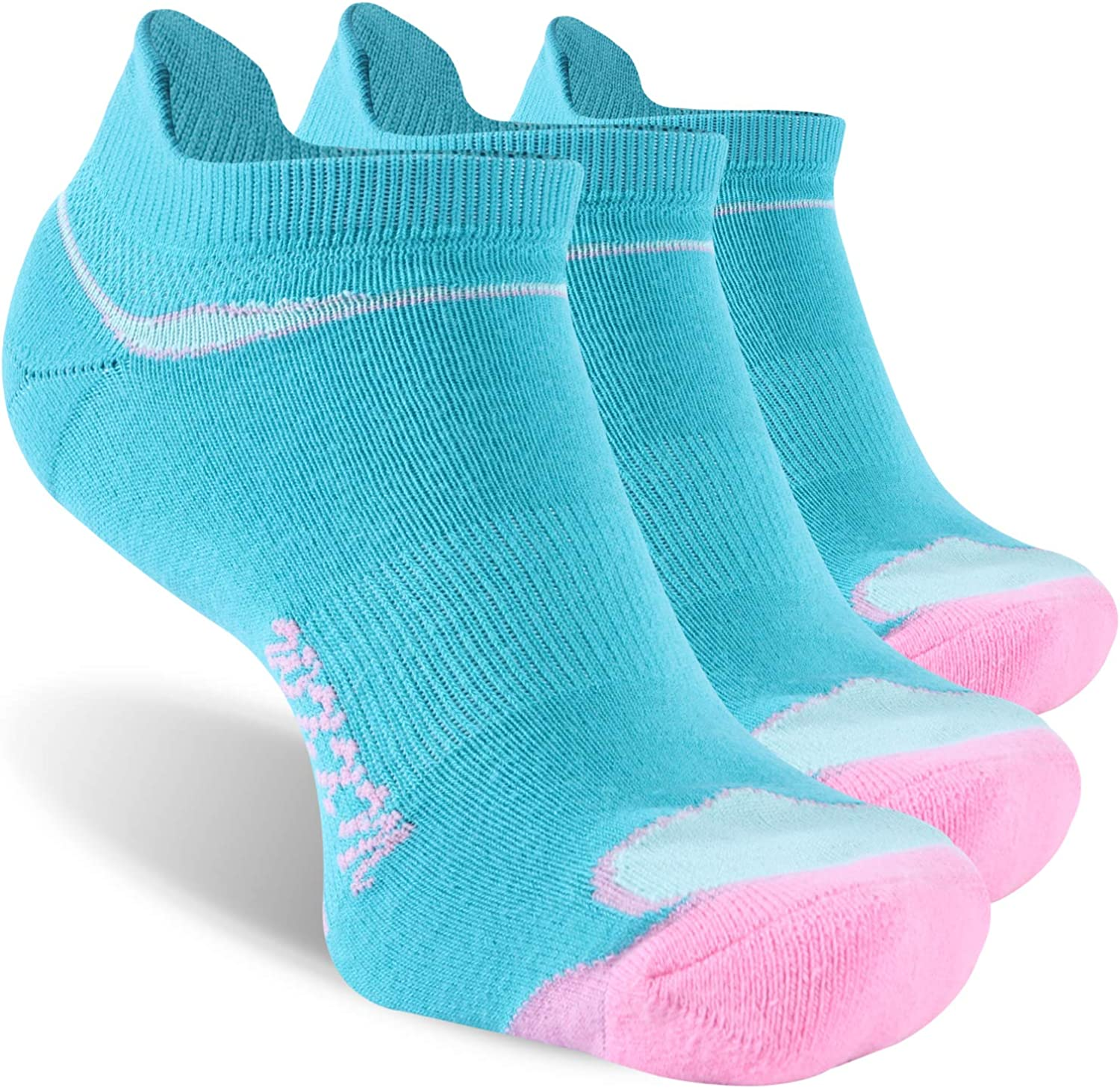 Ankle Running Socks WXXM Low Cut Comfort Cotton Cushioned Performance Walking Tab Socks with Arch Support 1//3//6 Pairs
