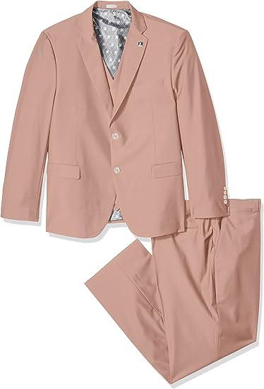 Grey Stacy Adams Mens Big-Tall Suny Vested 3 Piece Suit 48 Regular