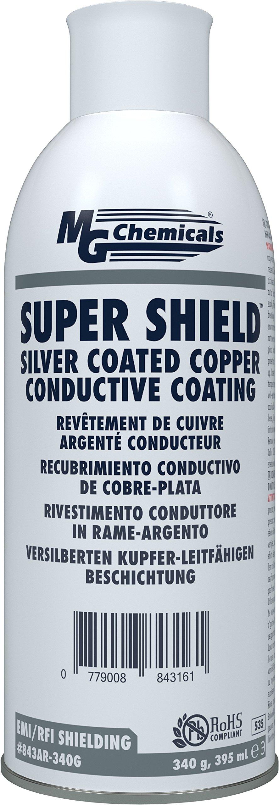 MG Chemicals Super Shield Silver Coated Copper Conductive Coating, 12 oz, Aerosol Can