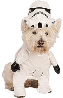 rubies halloween star wars running stormtrooper 2pc pet costume white black