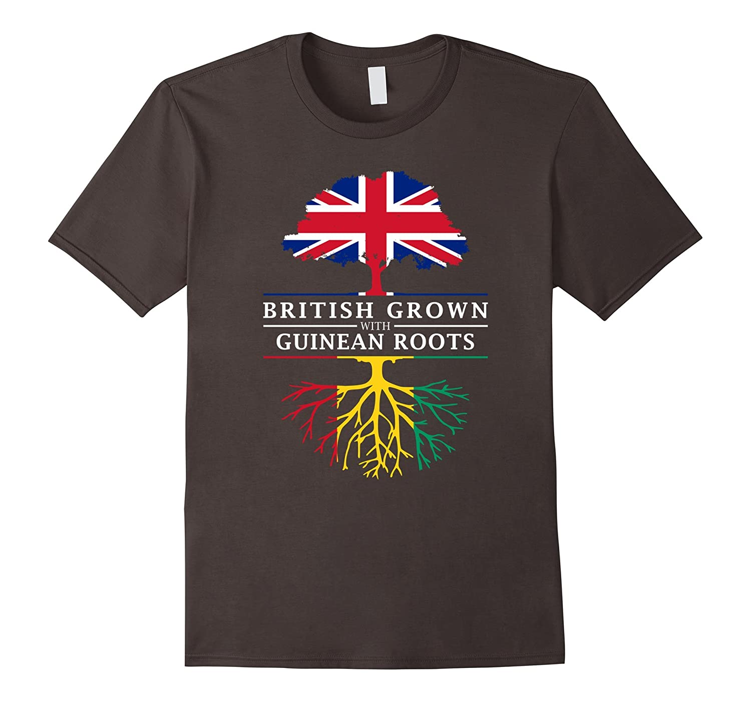 British Grown with Guinean Roots T-Shirt - Guinea Shirt-CD