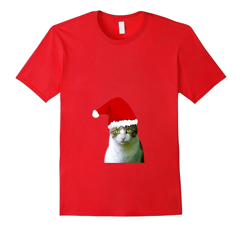 Christmas Cat Pajama funny and cute Funny Cat xmas tee-FL