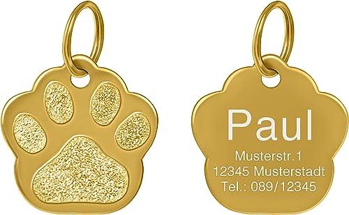 kultdog-Pfote-Hundemarke-Gravur-aus-24K-Gold