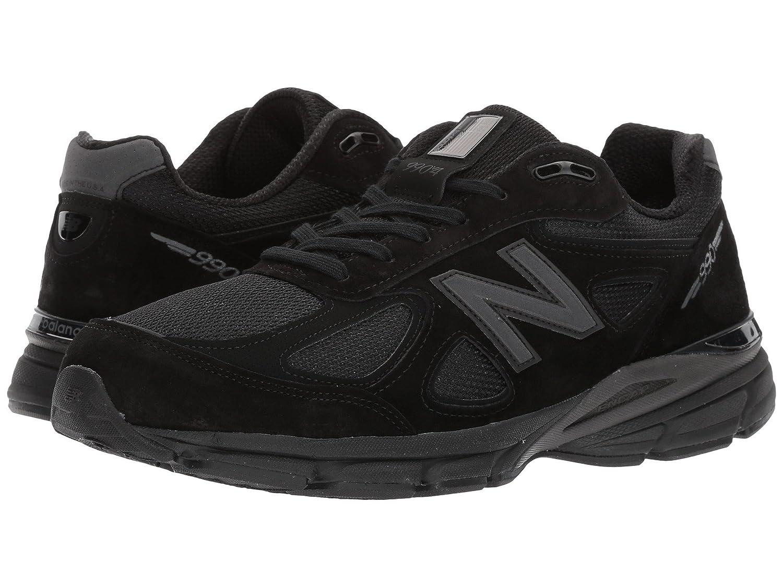 (ニューバランス) New Balance メンズランニングシューズスニーカー靴 M990V4 Black/Black 7.5 (25.5cm) 4E - Extra Wide B07BQSPZJL