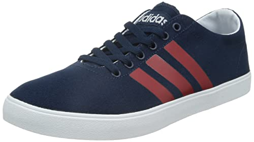 b73bfeed4e52 adidas New Mens Gents Navy Neo Easy Lace Ups Canvas Upper Trainers. - Navy