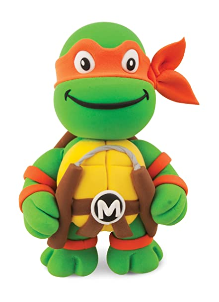 Amazon.com: Michelangelo de las Tortugas Ninja Myo Dough Kit ...