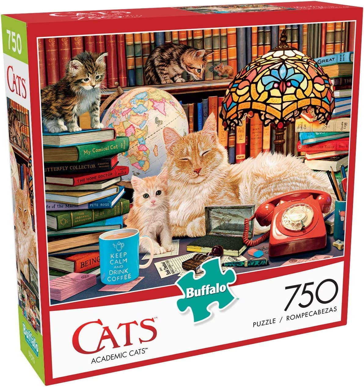 750 Piece Jigsaw Puzzle Buffalo Games Academic Cats