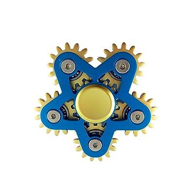 6 Gears Hand Spinner Color¨¦ En Fidget Jouet Roulement Haute Vitesse Spinner EDC Jouet Parfait pour Stress Relief(Bleu)