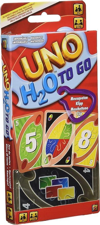Mattel Games - Cartas UNO H20 To Go, Juego de mesa para niños y ...