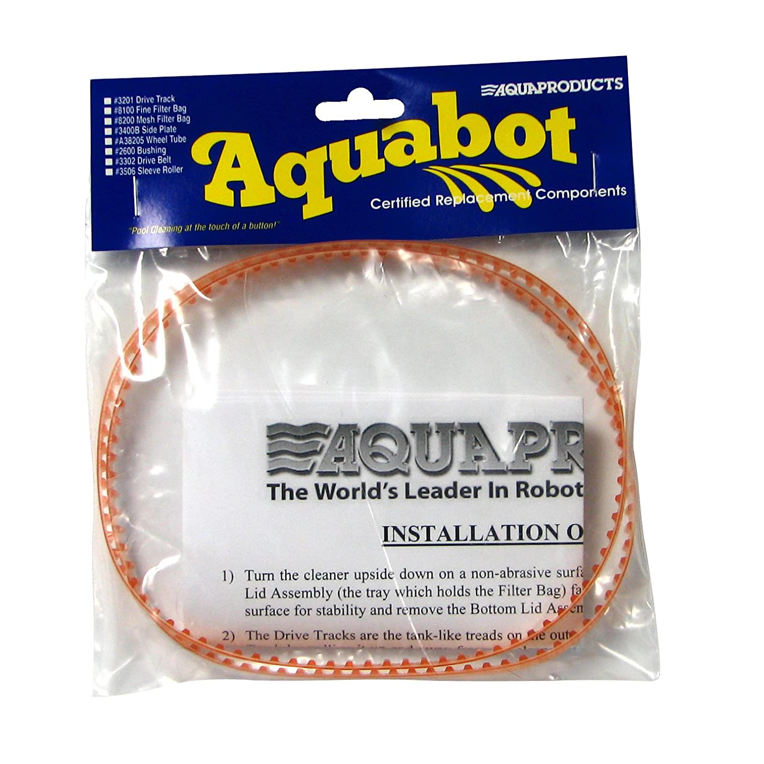 Aqua Products A3302PK Pool Cleaner Drive Belt, 2-Pack