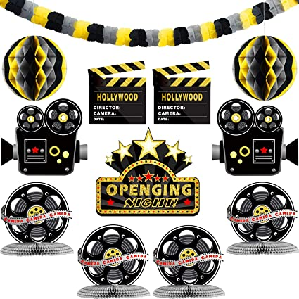 VIP Movie Party Cutout Decorations Hollywood Movie Set Clapperboard Stand-Up