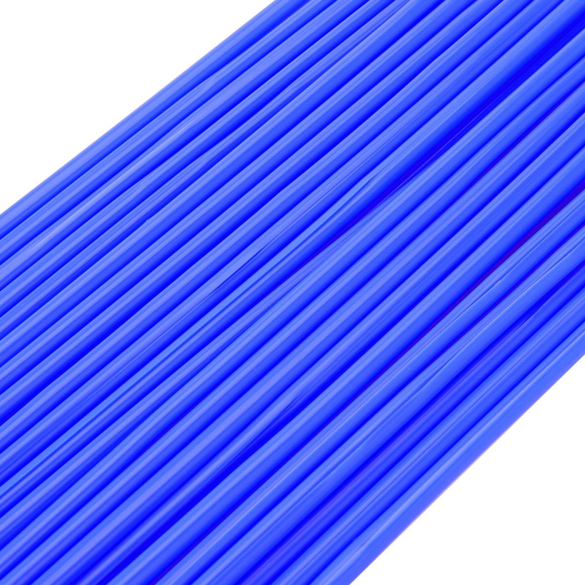 Winomo Couvre-rayons pour roue de v/élo et de moto 72 pi/èces Bleu