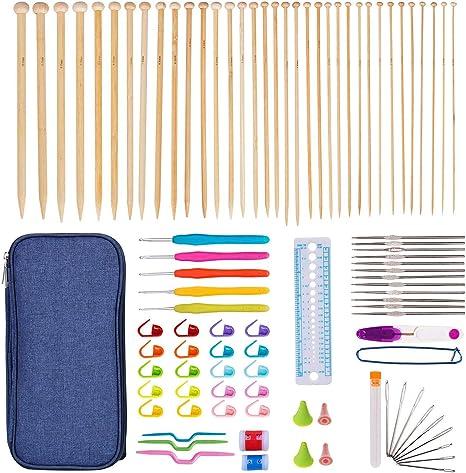 4PCS Aluminum Stitch Knitting Needles Crochet Hook Marker Needle Clip  4 Sizes