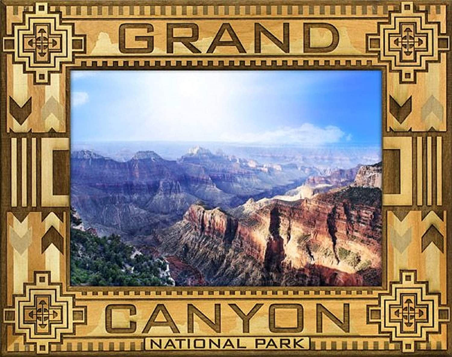 5 x 7 Grand Canyon National Park with Border Laser Engraved Wood Picture Frame