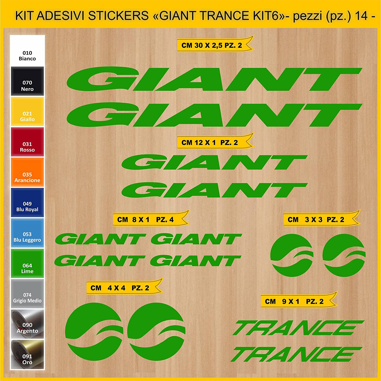 Kit Pegatinas Stickers Bicicleta Giant Trance -Kit 6-14 Piezas ...