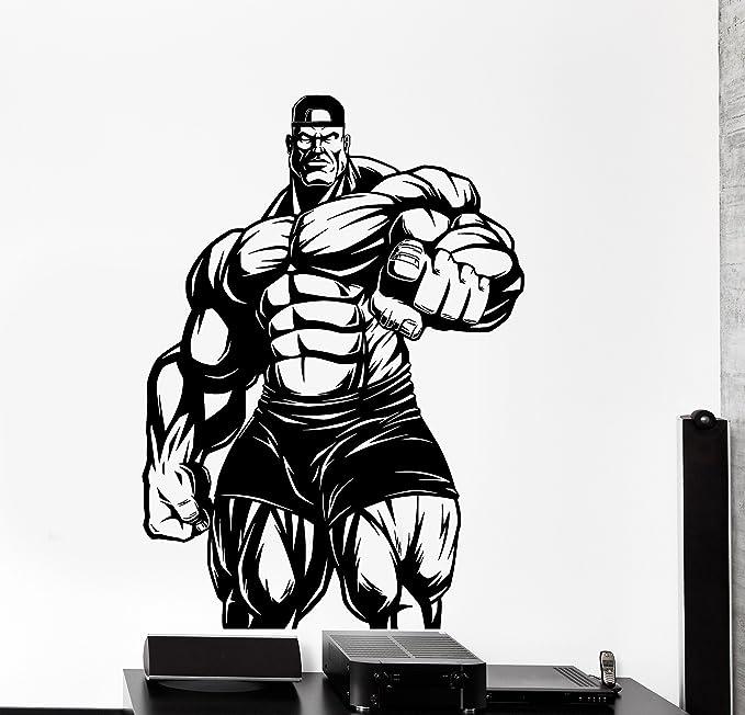 Amazon Com Large Wall Vinyl Decal Bodybuilding Bodybuilder Iron