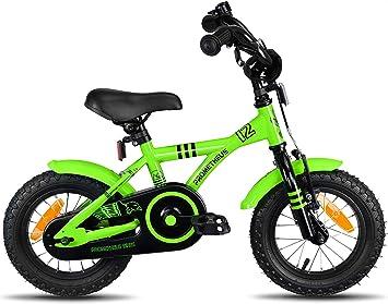 Prometheus Bicicleta Infantil | 12 Pulgadas | niño y niña | Verde ...