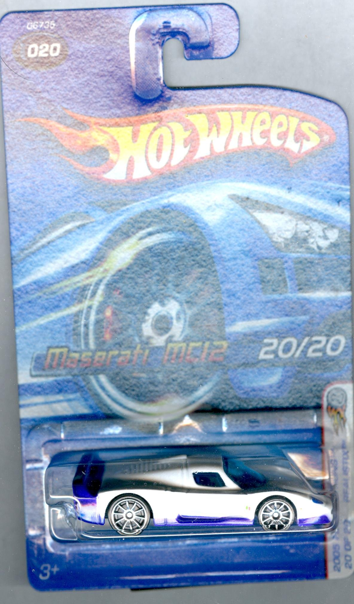 2005 First Editions Realistix Maserati MC12 -#20 10 Spoke Wheels #2005-20 Collectible Collector Car Mattel Hot Wheels 1:64 Scale