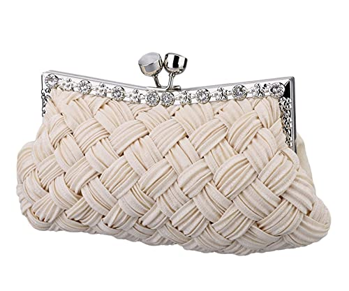 abdafd2552ce4 Dapengzhu Evening Bag Women Classic Clutch Woven Wedding Party Purse Black  Hot sell