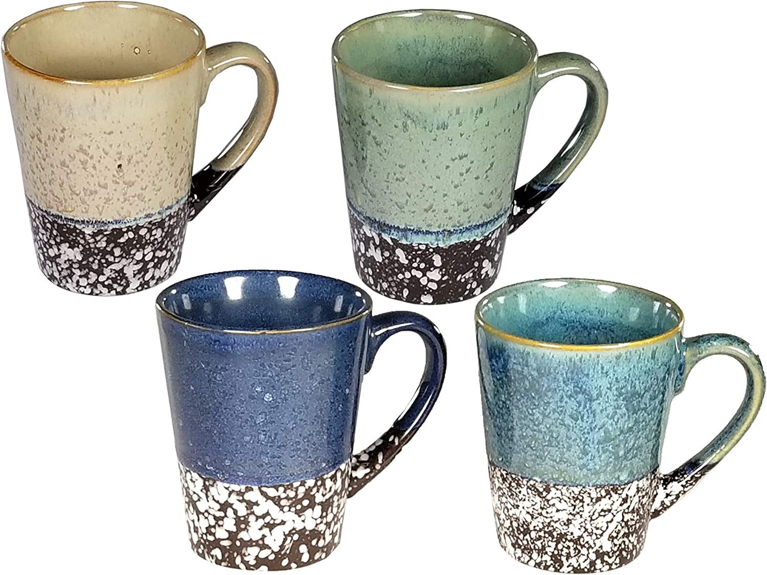 4 pc Multi Color 12 Oz Coffee Mug Set (Multi Color 3)