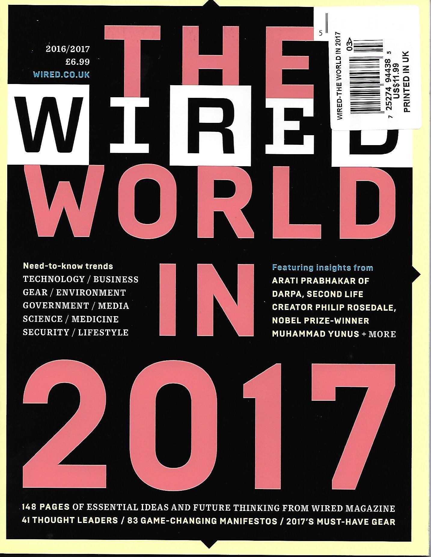 Read Online Wired Magazine The World in 2017 ebook
