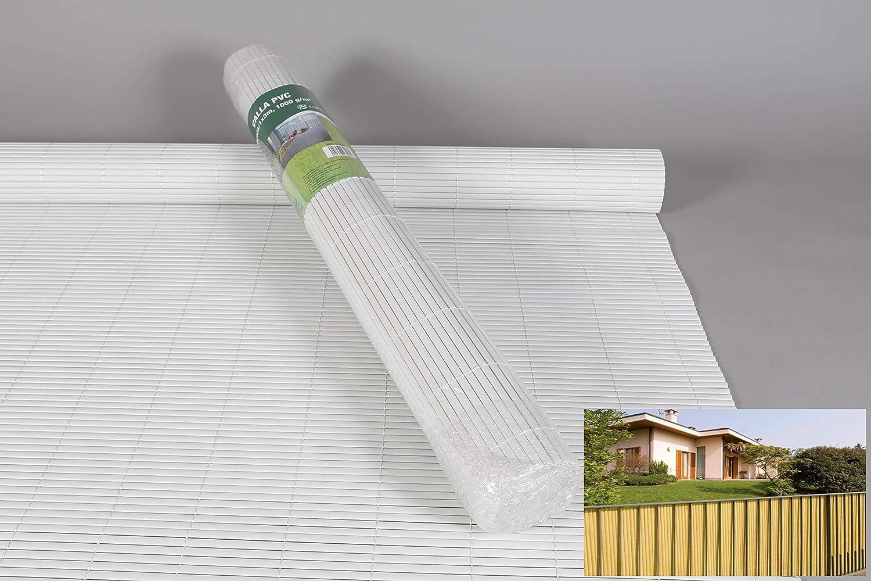 thesecrethome.es Valla OCULTACIÓN Exterior PVC Blanco 3X1.5 m para JARDÍN O TERRAZA: Amazon.es: Hogar