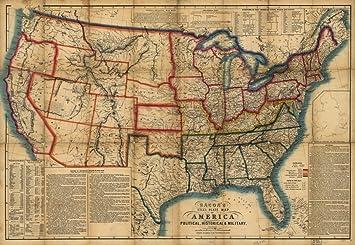 amazon 1863 civil warマップ baconsスチールプレートのアメリカ合衆国