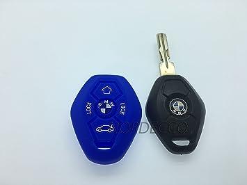 Housse Pour Silicone Couvre Clé Pour BMW X5 E53 Clé Coque Porte-Clés