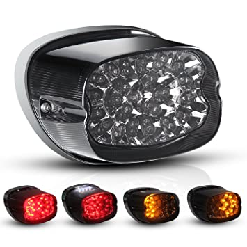 81yMVAKQBAL._SY355_ amazon com motorcycle led tail light turn signal for harley