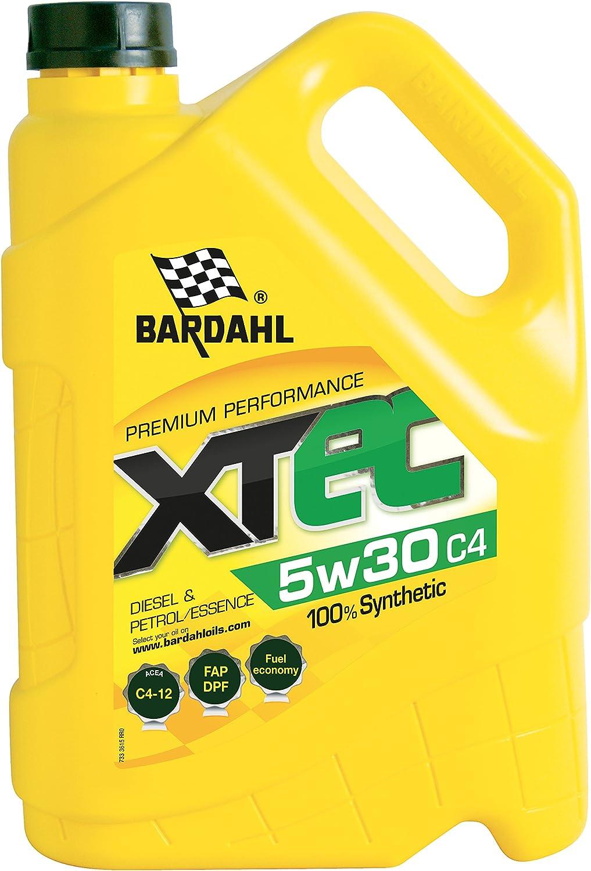 Bardahl Aceite Motor xtec 5 W30 C4 100% sintético – Gasolina & Diesel 5L: Amazon.es: Coche y moto