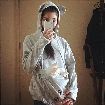 Cystyle - Sudadera acolchada con bolsillo tipo canguro para ...