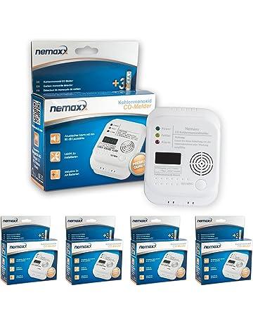 4X Nemaxx Detector de CO Monoxido de Carbono Detector de Gas Alarma de Gas Detector de