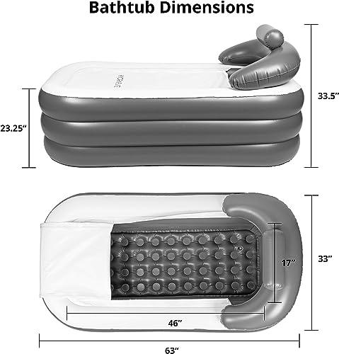 Hydraflate Inflatable Bathtub