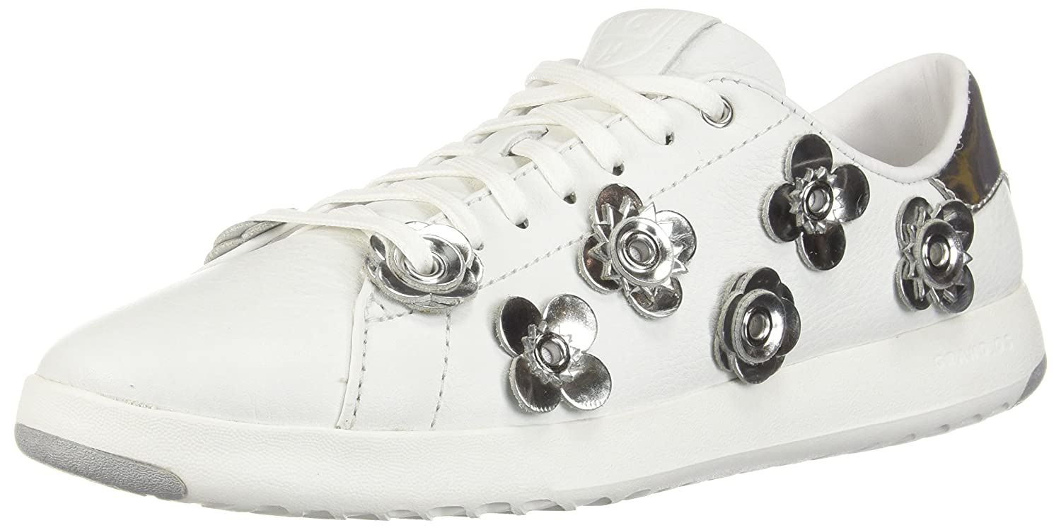 Cole Haan Women's Grandpro Tennis Leather Lace OX Fashion Sneaker B079QH57NG 5.5 B(M) US Optic White-argento Specchio