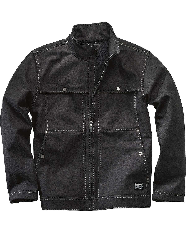 Timberland PRO Men's Stud-Lee Canvas Windproof Jacket, Jet Black, Large