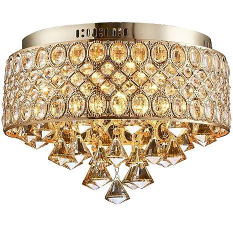Amazon.com: Lightinthebox lámpara de 4 luces diamante de oro ...