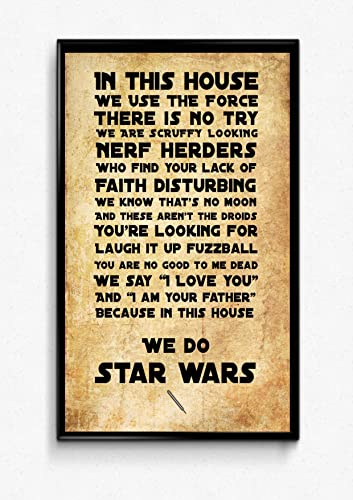 In This Housewe Do Star Wars Movie Quote Art Print Movie