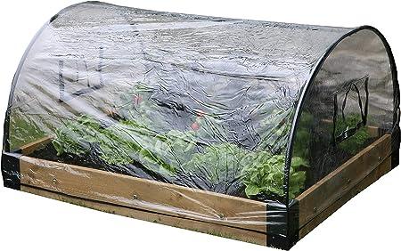 Haxnicks Bed010103 Cloche en Verre avec Protection Contre Les intemp/éries Blanc 120 x 100 x 50 cm