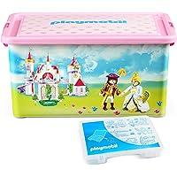 Playmobil - 064662 - Grande Boîte de Rangement 23 L + Boîte compartimentée - Princesses