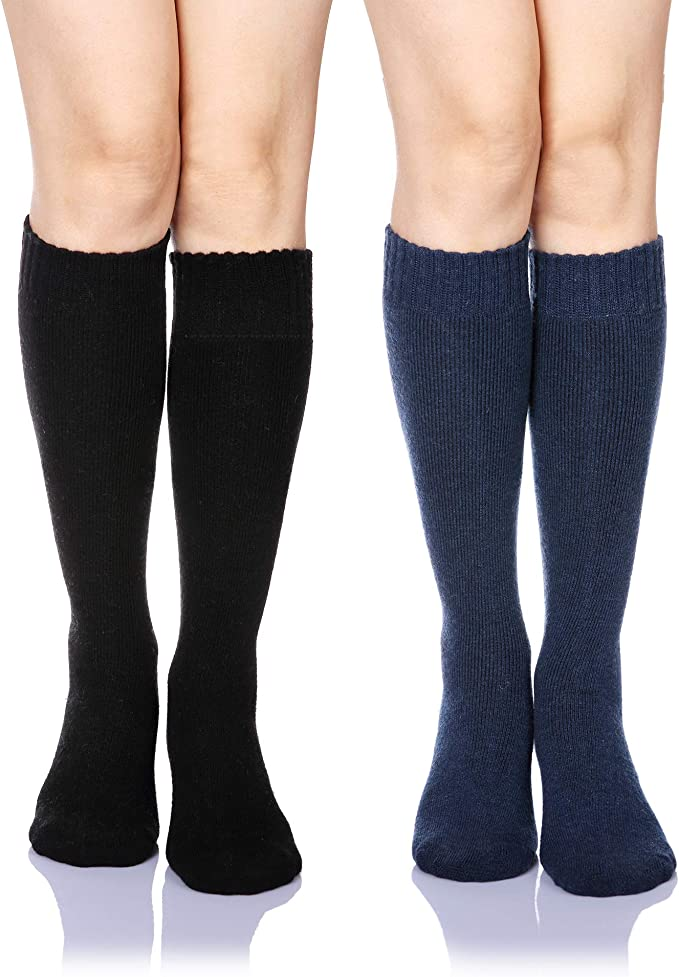 diff.colors 3 pair ~ WOOL SOCKS MADE IN USA Over the knee New