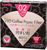 Hario VCF-02-40M 1-Piece Misarashi Box of Paper Filter for 02 Dripper