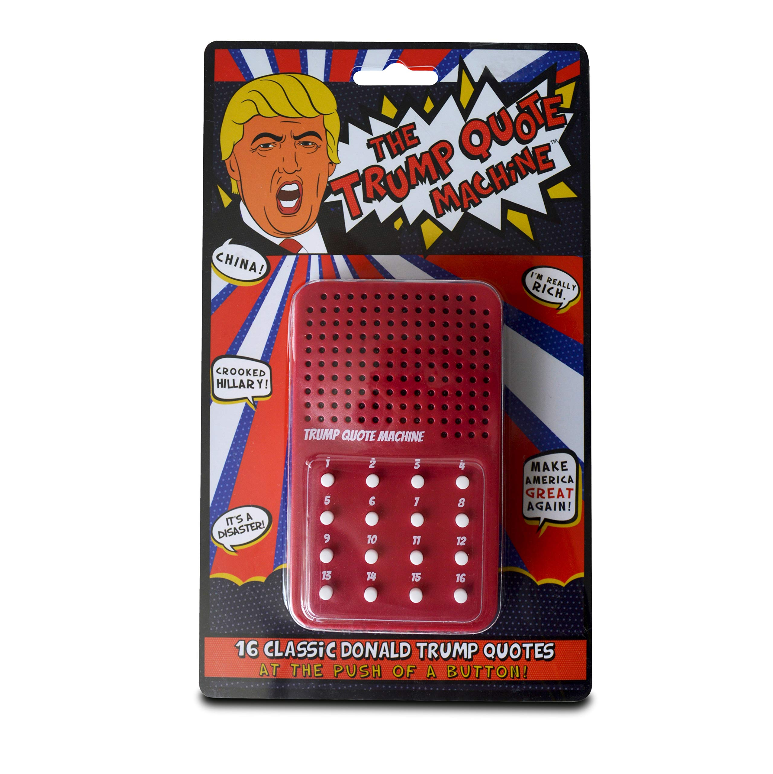 Trump Gag Gift - The Donald Trump Quote Machine - 16 Classic Quotes, One-Liners & Maga Brilliance from President Trump Himself - A Funny Gag Gift to Make America Great Again by Greenacre Brands