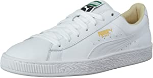 PUMA Men's Basket Classic LFS Sneakers, Black Team Gold, 6