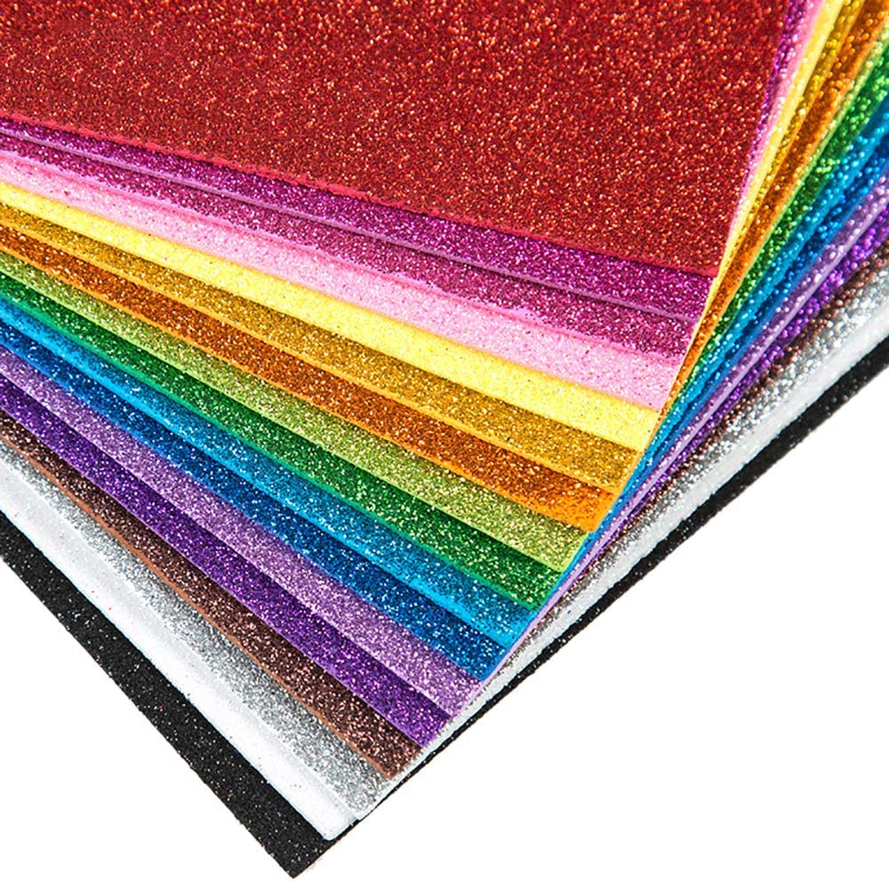 Anjing 10 St/ück 10 Farben Gl/änzend superfein Glitzer Stoff Glitzer Filz Bl/ätter f/ür die Herstellung von Tasche Hut Schmuck und Haararbeiten