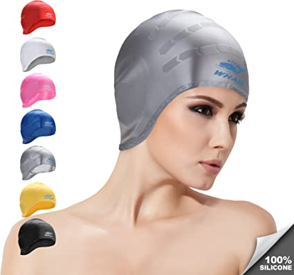 Durable Unisex Swimming Hat for Reducing Water Intake Silicone Swimming Cap